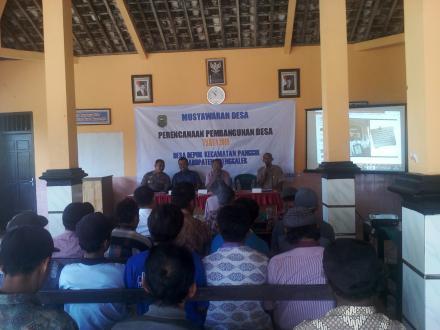 Musyawarah Desa (Musdes) RKPDes Depok Tahun 2018