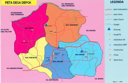 Peta Desa Depok